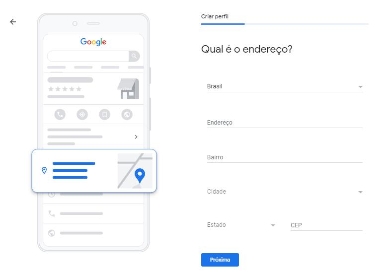 Google Meu Negócio Localização Endereço