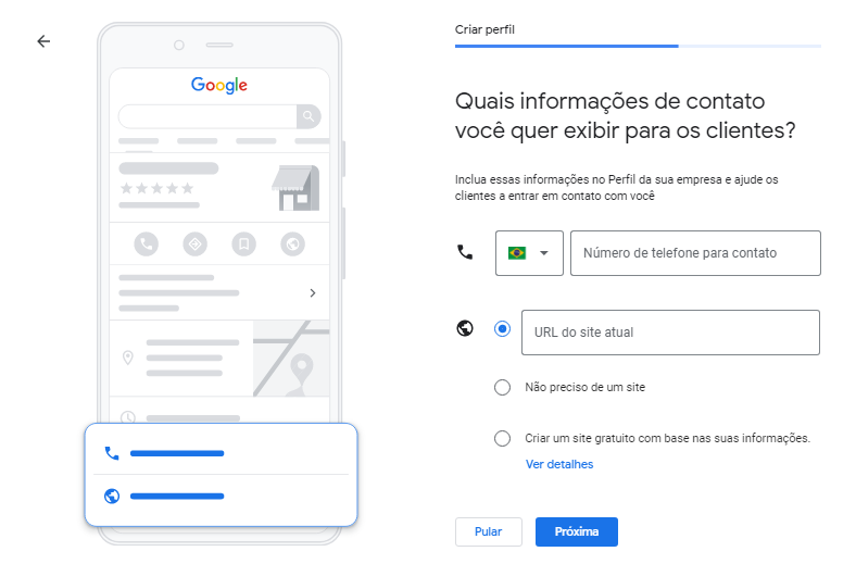 Google Meu Negócio Localização Informações Contato