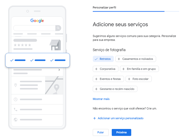 Google Meu Negócio Localização Mais Serviços