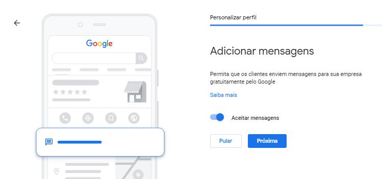 Google Meu Negócio Localização Mensagens
