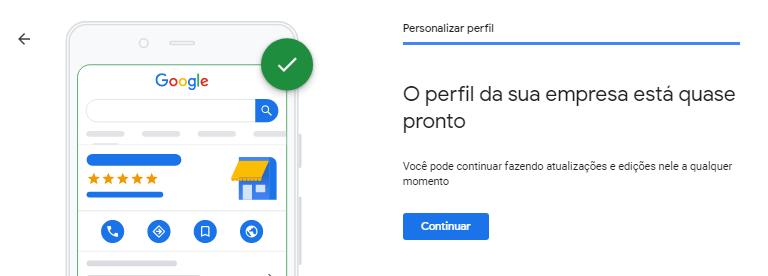 Google Meu Negócio Localização Quase Pronto