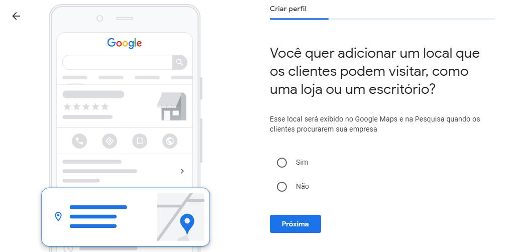 Google Meu Negócio Localização