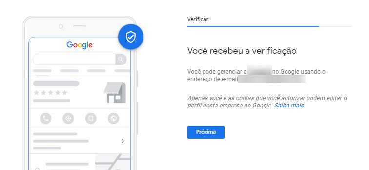 Google Meu Negócio Localização Verificar